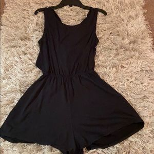 Dresses & Skirts - Black t-shirt Romper